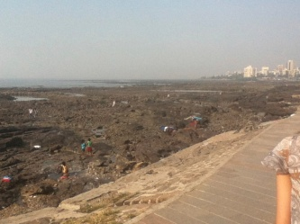 View from Bandstand Promenade. Shah Rukh Khan's house/tower is near here
