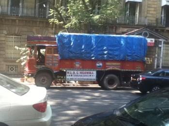 Typical Indian truck, Ballard Estate
