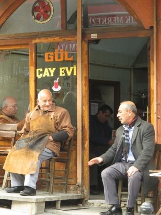 Two men talking, street near Grand Bazaar