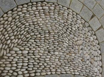 Pebble tile work, courtyard near the Blue Mosque