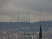 I thought these were minarets on the Asian horizon. They are transmission towers.