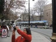 Tram line in the Golden horn. 5 minute headways.