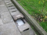 Covered drainage near the Haya Sofia. Looks like soapy water.