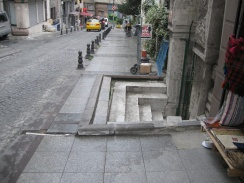 Intrusion into the sidewalk