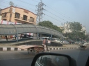 A Bus Stop along the future alignment of the Delhi Metro
