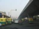 Traffic undee the current Delhi Metro Line