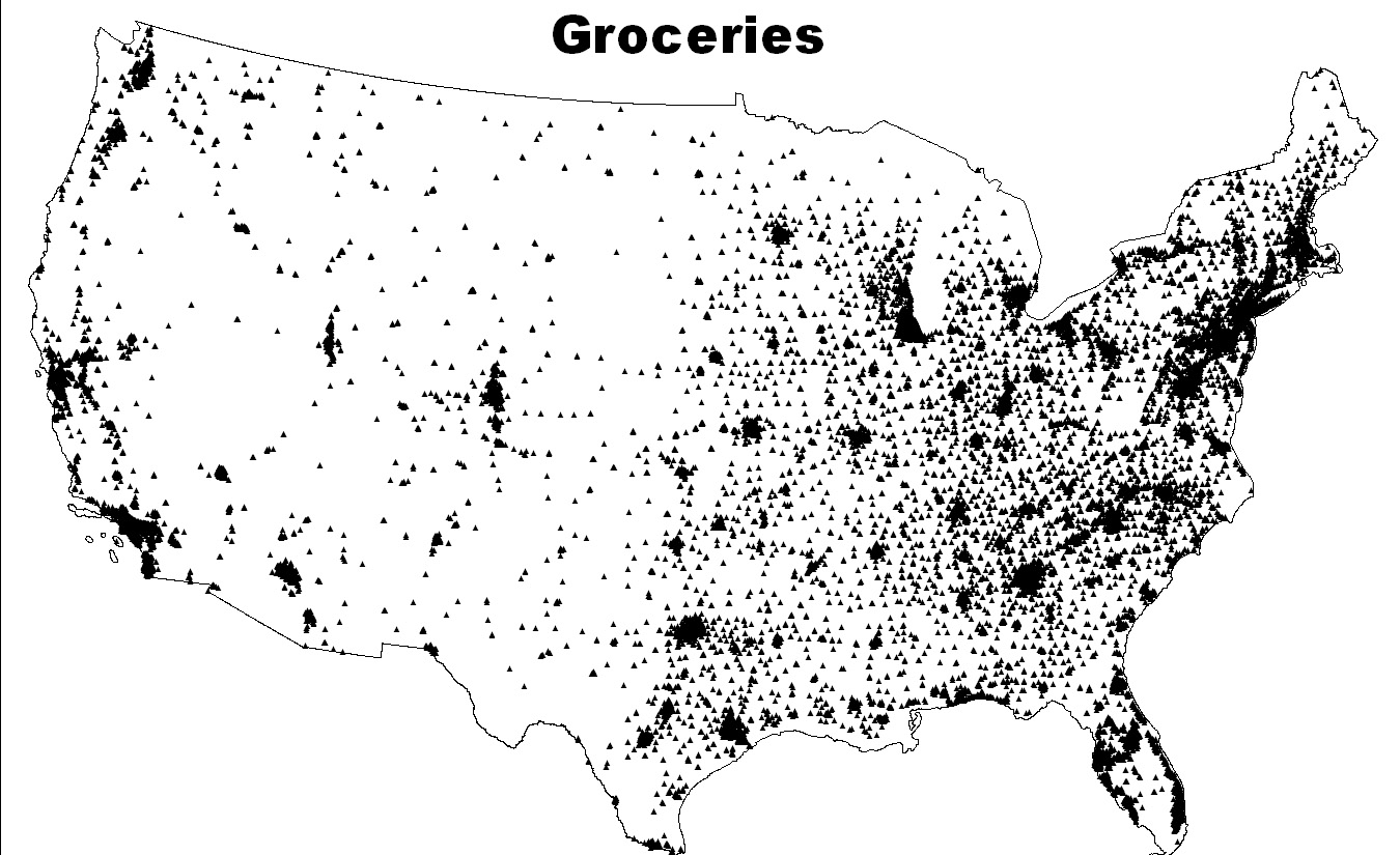 Captivating This Closely Follows The Density Of The US, With About 30,000 Grocery Stores  For 320,000,000 People. Some Groceries, Like Wal Mart Or Kroger, ...