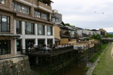 Balconies on the west bank of the Kamo River, Kyoto