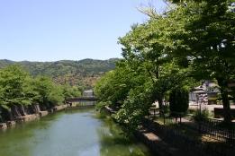 Channelized River near Heian Shrine, Kyoto