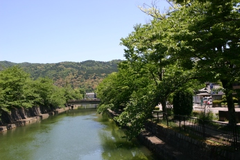 Channelized River near Heian Shrine, Kyoto